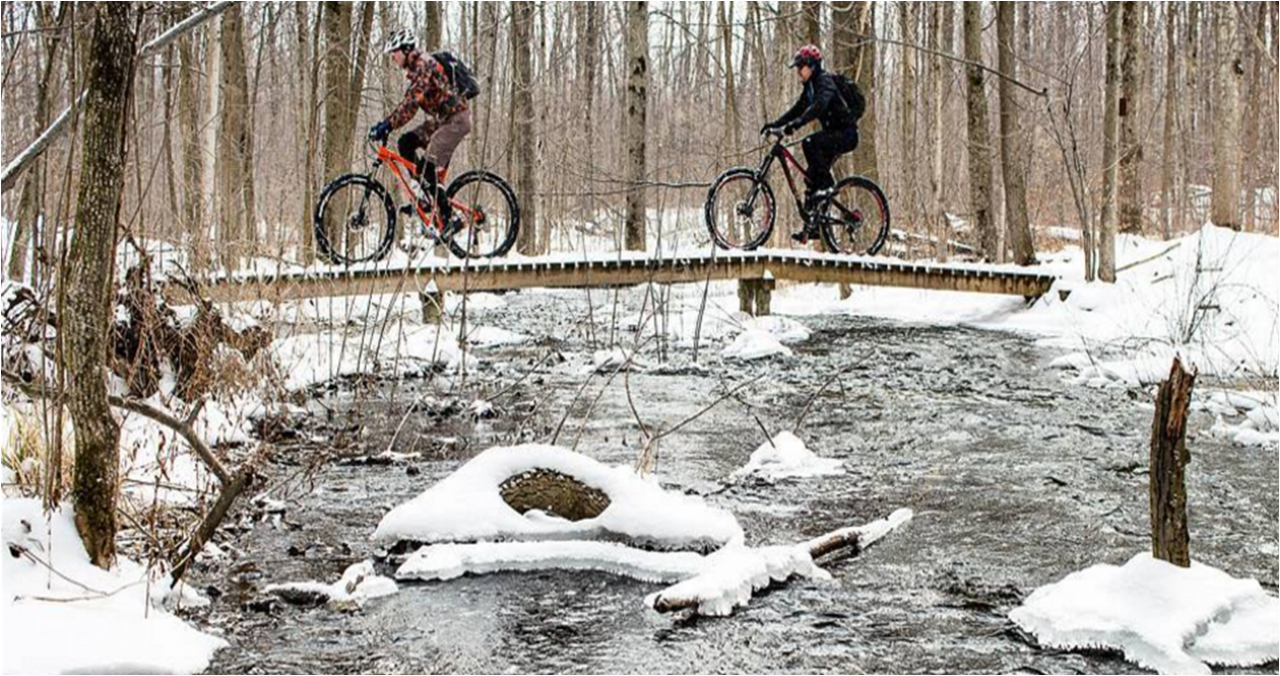 6 Great (& Wintery) Ontario Cycling Images from Instagram