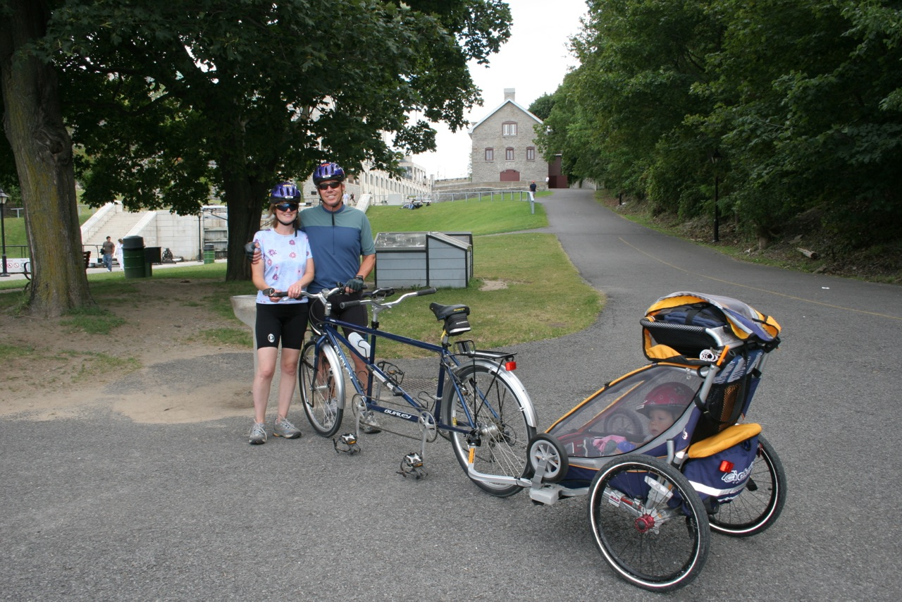 Family cycle by canal