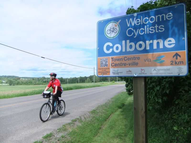 Colborne Welcomes Cyclists