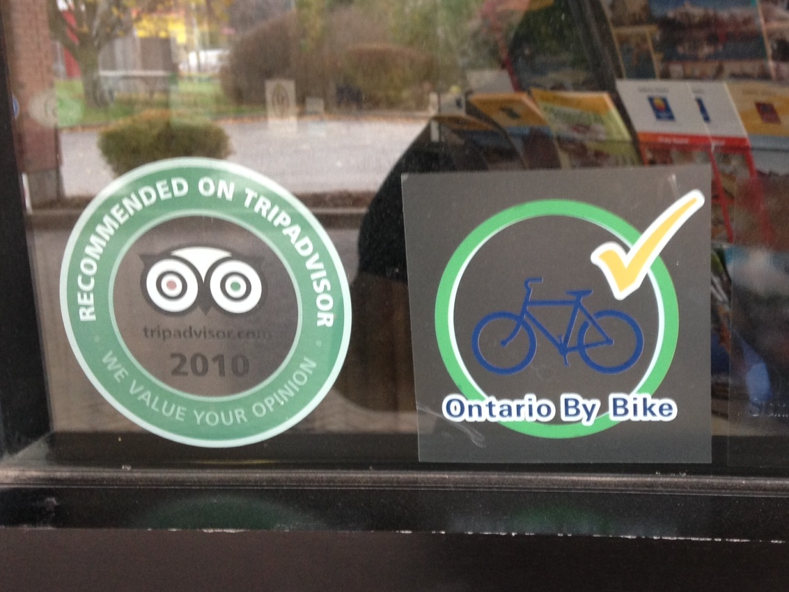 OBB Window Decal On Display
