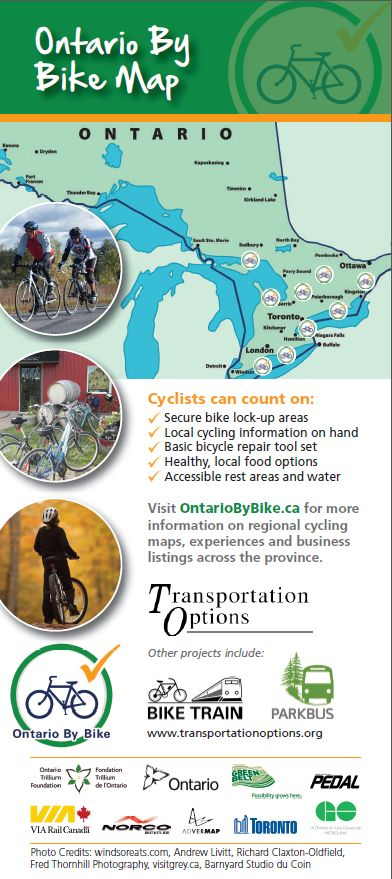 Ontario By Bike 2014 Rack Card FINAL - Lo Res Back