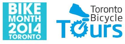 Toronto Bike Month and T Bicycle Tours logos
