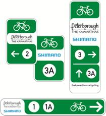 Peterborough and the Kawarthas Shimano Signs