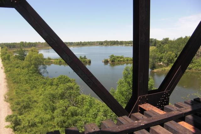 Rail Trail Black Bridge Panorama