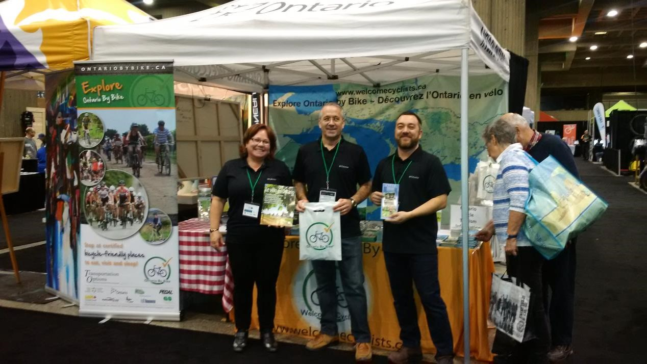 Ontario By Bike Team at Montreal Velo Show