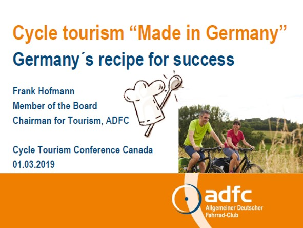 Frank Hofmann Cycle Tourism Conference 2019