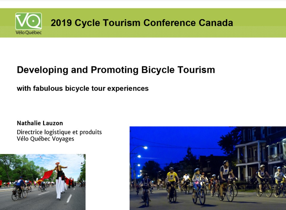 Nathalie Lauzon Cycle Tourism Conference 2019