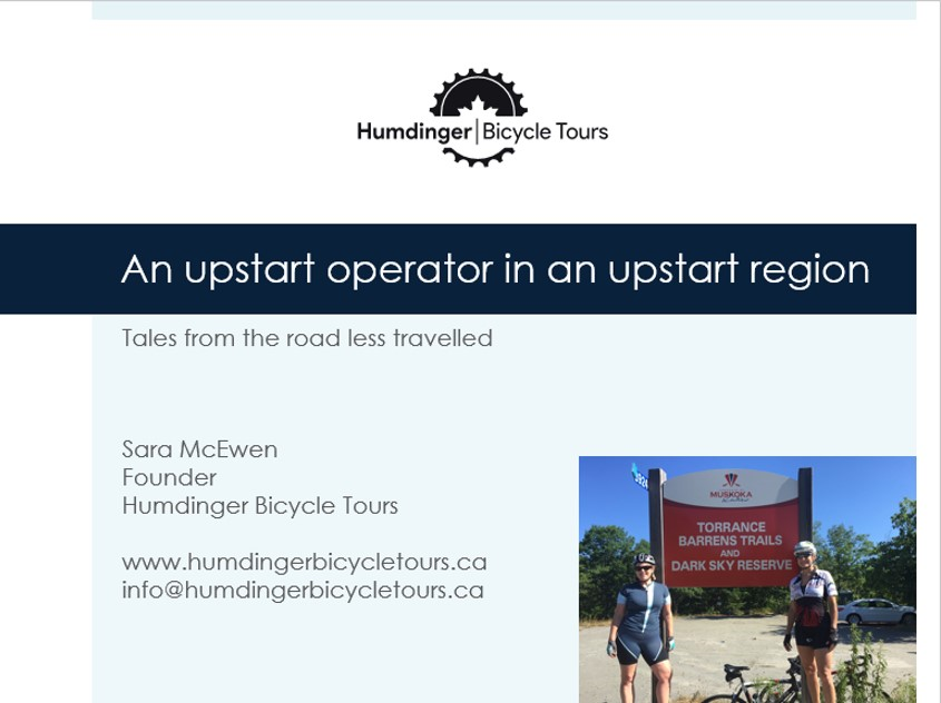 Sara McEwen Cycle Tourism Conference 2019