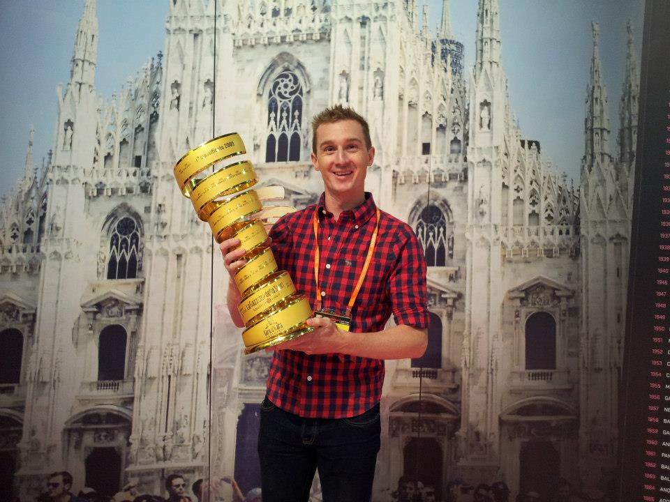 Matt White with Giro Trophy