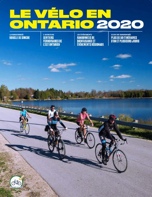 2019 Cycling in Ontario Guide French Cover Reduced