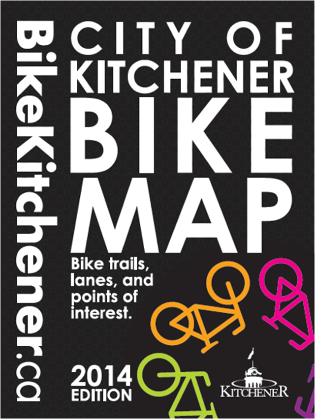 City of Kitchener Bike Map Cover